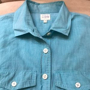 J. Crew Factory Cotton Voile Camp Shirt XXS